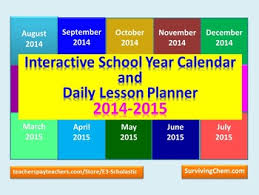 Ppt Calendar 2015 2014 2015 Interactive School Year Calendar And Daily Lesson Planner Ppt
