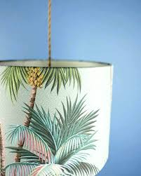 lamp shade pendant tropical printed lampshade pendant with palm leaves glass pendant lamp shade replacements glass