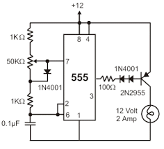 70 interesting circuits 12v rail and thus the transistor does not turn off the two diodes in the circuit below are needed to drop an additional 1v so the transistor turns off