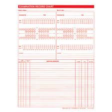 Dental Chart Images Exam Record Dental Charts 2 Sided White 100 Pk