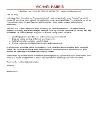 Cover Letter Examples Finance Letter Example