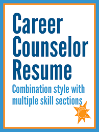 Career Advisor Resume Mesmerizing Sample Career Counselor Resume