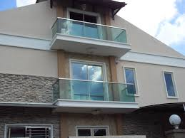 Cream And Stone Wall House With Glass Balcony Glasses Windows Can Add The  Modern Touch Inside ...