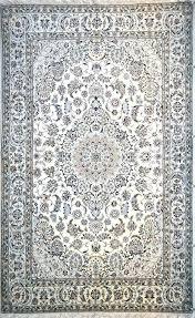 white persian rug wool item hf white persian rug