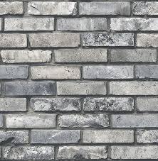 painted grey brick wallpaper