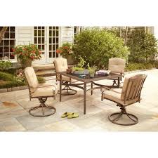 Patio, Patio Sets At Home Depot Patio Furniture Walmart Square Black Glass  Topped Dining Table