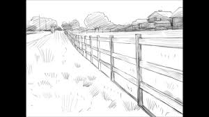 wood fence drawing. How To Draw A Fence Wood Drawing