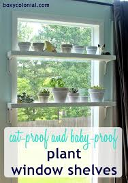 window plant shelves step by step photo tutorial to make these pet and baby proof shelves