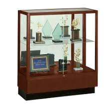 office display cases. Counter Height Classic Display Case With Mirror Backing, 31171 Office Cases F