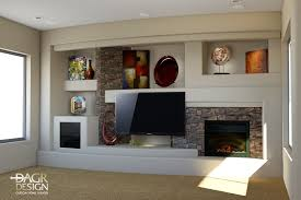 Small Picture custom drywall entertainment centers 3D design rendering of a