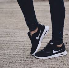 black nike running shoes tumblr. shoes nike air hipster grunge skinny jeans black socks haute couture celebrity style celeb running tumblr t