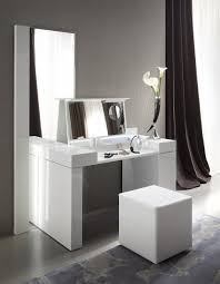 Leather Bedroom Suite Bedroom Modern White Wooden Make Up Table And Rectangular Mirror