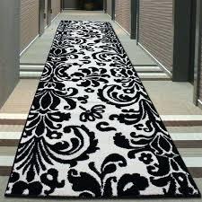 black and white striped rug runner fabulous white runner rug with damask runner decor ideas home black and white striped rug runner