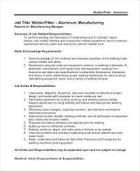Welder Job Description