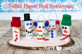 Howto Craft A Toilet Paper Roll SnowmanChristmas Crafts Made With Toilet Paper Rolls