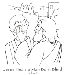 Free Coloring Pages Printable Jesus Heals