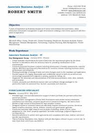 Associate Business Analyst Resume Samples Qwikresume