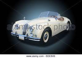 jaguar xk140 classic car restoration garage british repair 1957 jaguar xk140 stock photo