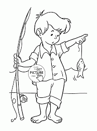 Small Picture Little Fisherman coloring page for kids seasons coloring pages
