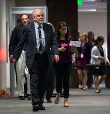 state psychologist b thomas gray leaves the courtroom during a recess from a competency hearing