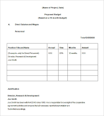 how to create a project budget budget proposal templates 11 free sample example format