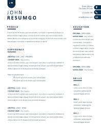 Nyx Contemporary Simple Resume Template Resumgocom