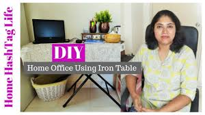 small home office organization. DIY Home Office Organization Using Iron Table! Small Space Organisation | HashTag Life