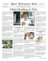 Newspaper Front Page Template Indesign Front Page 4 Column Template Of A Newspaper New York Times Google