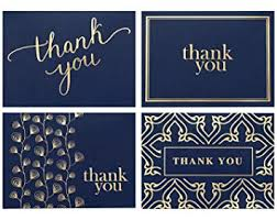 Thank You Note Size Amazon Com 100 Thank You Cards Bulk Thank You Notes Navy Blue