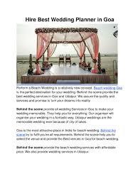 Wedding Planner Ppt Ppt Hire Best Wedding Planner In Goa Powerpoint Presentation Id