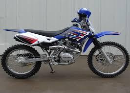 blue street legal dirt bike motorcycle 200cc 1 cylinder 4 stroke