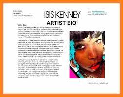 Biography Example Fascinating Artist Biography Samplesshort Bio Template Artist Bio Example Bio