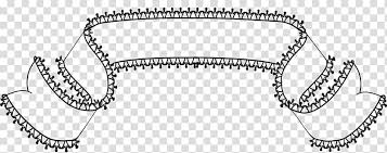 Ribbon Banner Template Black And White Lace Banners Brushes Black Ribbon Template Transparent