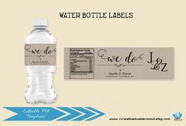 Water Bottles Templates Wedding Water Bottle Label Template Diy We Do Editable Pdf Water Bottle Printable Rustic Wedding Template Welcome Bag Instant Download
