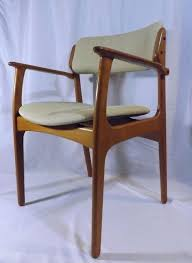 danish modern mobler domus danica teak erik buck 50 captains chair danishmodern mobler