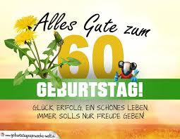 60 Geburtstag Geburtstagskarte Alles Gute Mit Schönem Spruch