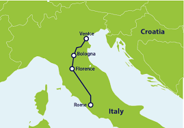how to get from rome to venice by train
