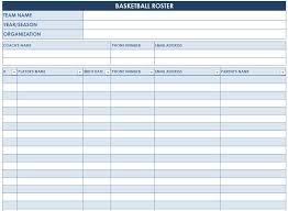 Roster Sheet Template Basketball Roster Template Basketball Roster Sheet