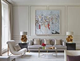 Painting In Living Room Contemporary Painting This Peaceful Home