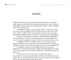 writing paragraph about air pollution essay on air pollution for children and students
