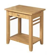 hanover light oak lamp table