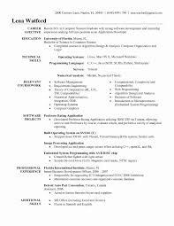 Resume Format For 1 Year Experienced Java Developer Lovely Sample