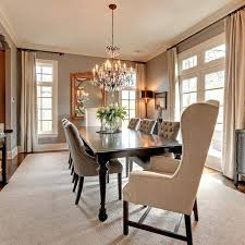 dining room light height dining room lighting height above table