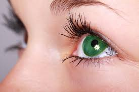 if you want your green eyes to really pop wear green mascara and eyeliner