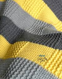Crochet Gray Yellow Baby Blanket MADE TO ORDER by CrochetByJamie ... & Crochet Gray Yellow Baby Blanket MADE TO ORDER by CrochetByJamie Adamdwight.com