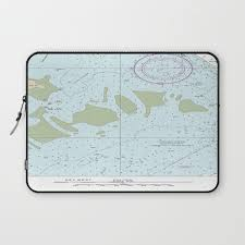 Florida Keys Nautical Chart Laptop Sleeve