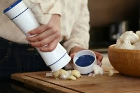 use the garlic shaker to l an entire head of garlic in seconds