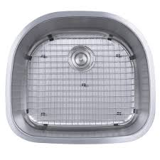 Nantucket Sinks 304 16 Gauge Stainless Steel D Shape 24 Inch