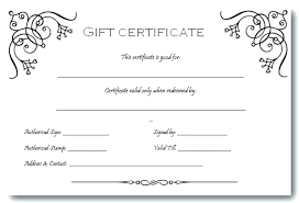 Gift Certificates Samples Stunning Editable Certificate Template Free Editable Certificate Template