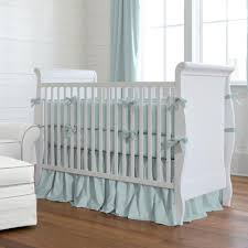solid robin s egg blue baby crib bedding